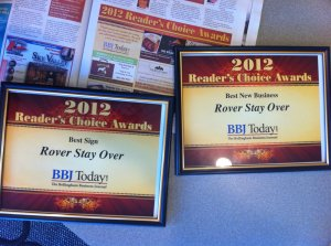 March 2012 - Rover Stay Over, Best New Business