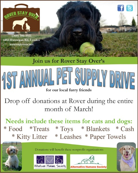 1st Annual Pet Supply Drive