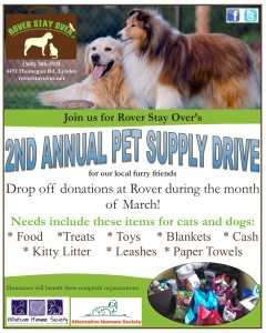 2nd annual pet supply drive flyer