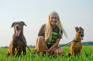 Dani with Harley and Riggins